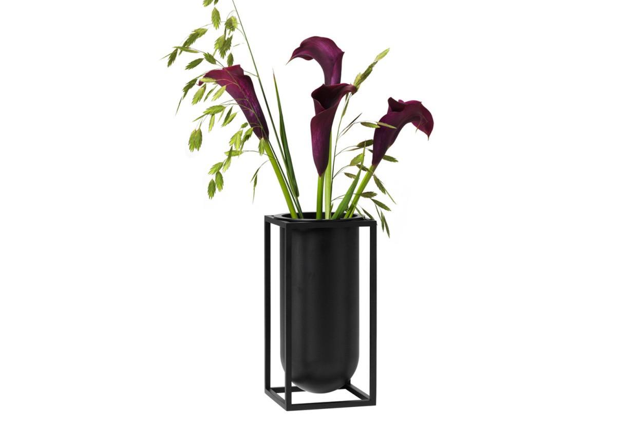 by Lassen(バイラッセン) Kubus フラワーベース Lily 高さ20cm モノクロカラー