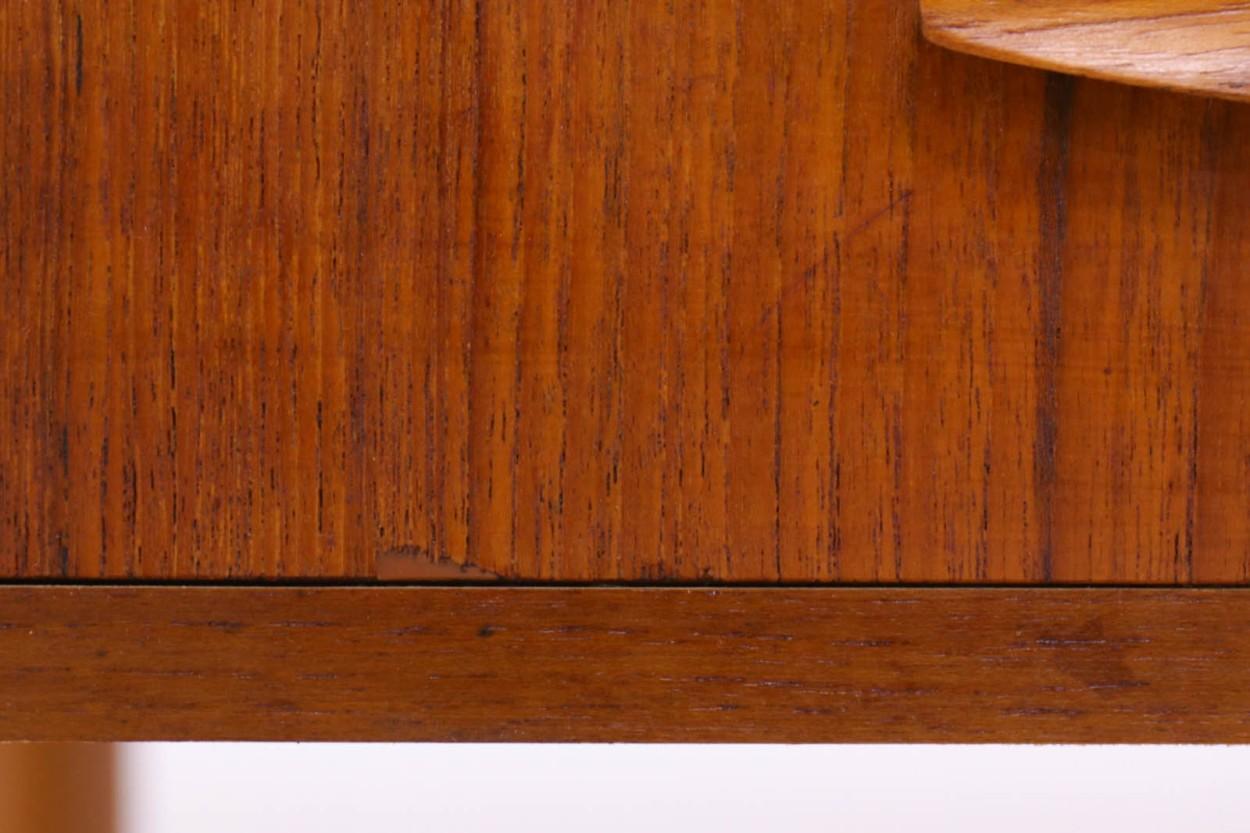 デンマーク製 両袖デスク/机 チーク材 北欧家具ビンテージ/DK10514