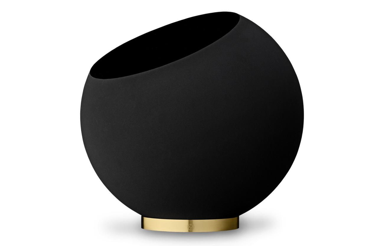 AYTM フラワーポット/フラワーベース GLOBE Mサイズ ブラック