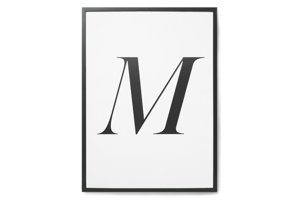 PLAYTYPE アルファベット ポスター/アートプリント 50×70cm Caledonia Jane - M
