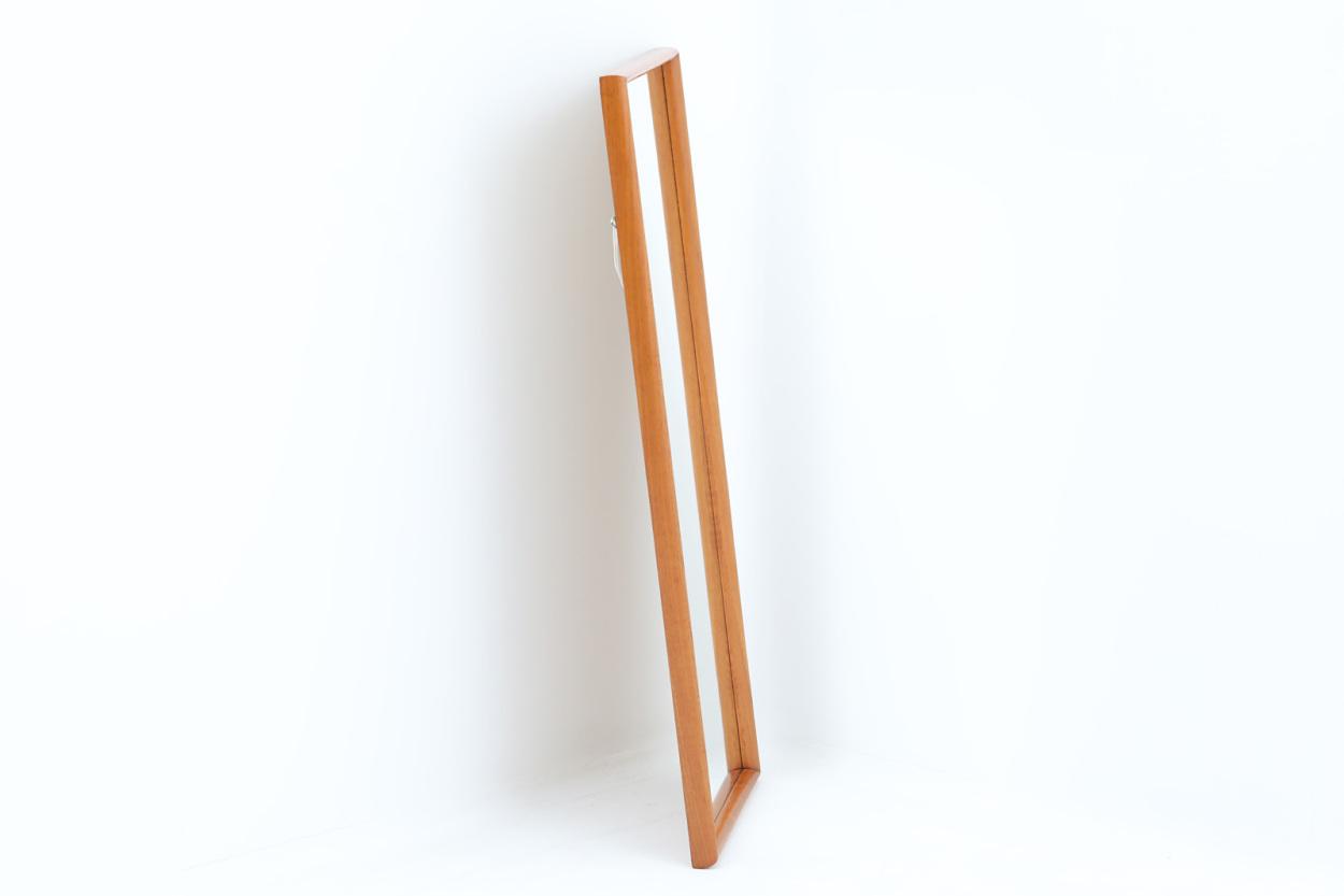 デンマーク製 チーク材ミラー 壁掛け/立掛け 高さ86cm 北欧ビンテージ家具/DK11668