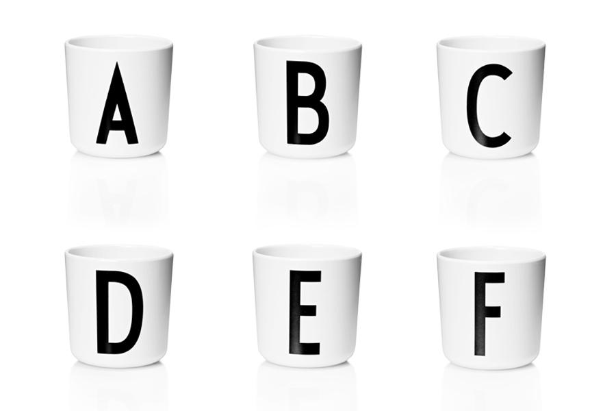 DESIGN LETTERS(デザインレターズ) Arne Jacobsen アルネ ヤコブセン メラミン製 パーソナルカップ(A〜M)