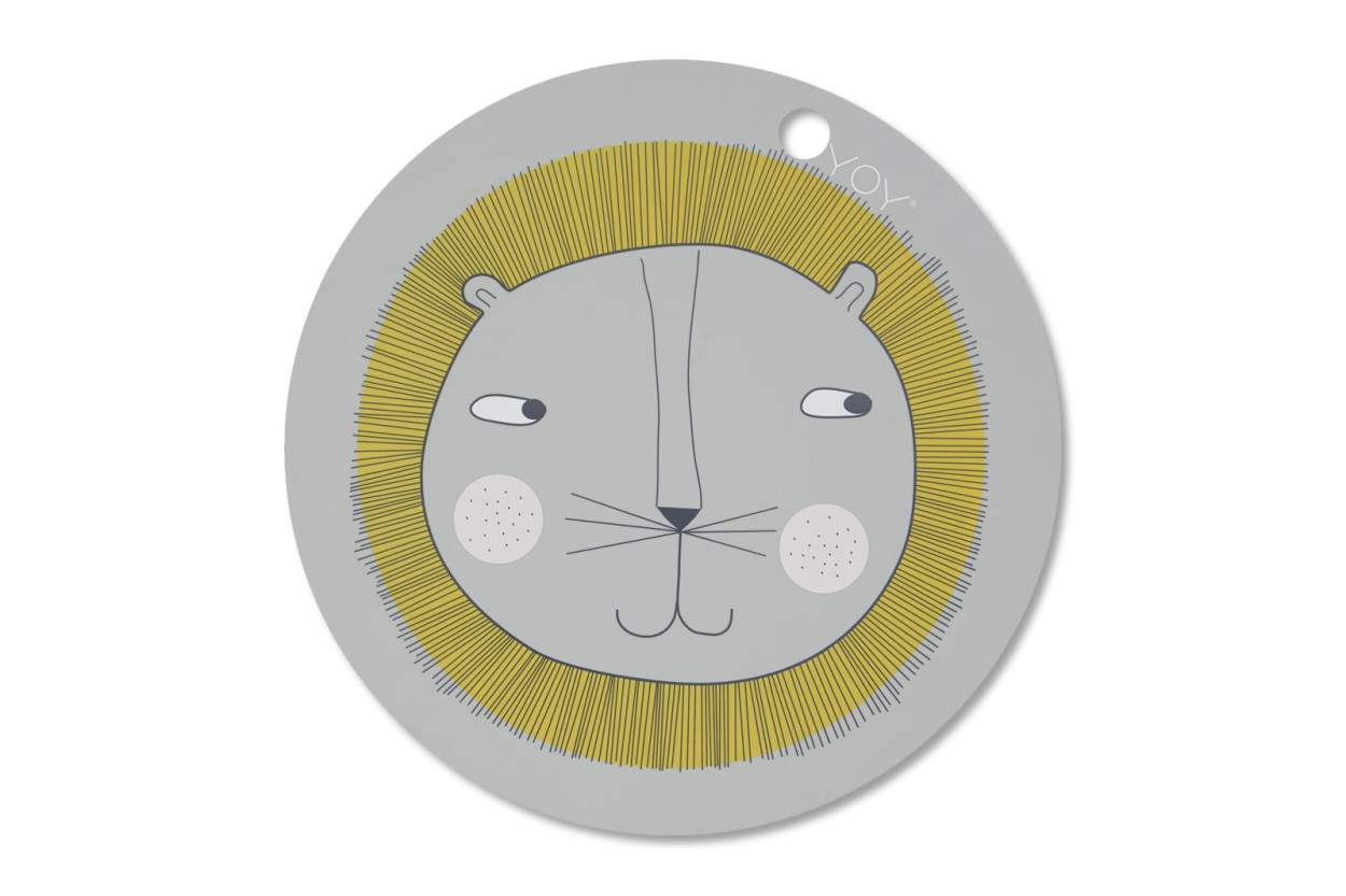 OYOY Living Design キッズ用 シリコン製のプレイスマット Lion