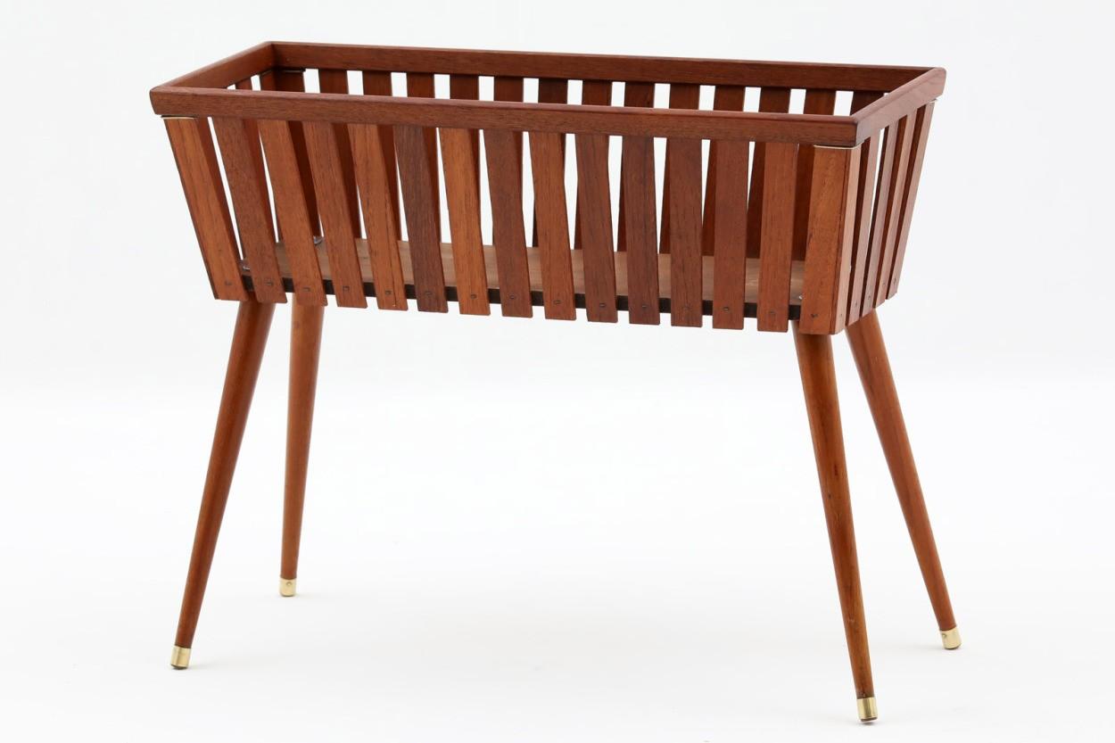 デンマーク製 プランター チーク材 北欧家具ビンテージ/DK11184