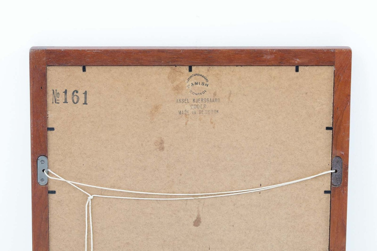 Aksel Kjersgaard(アクセル・キアスゴー) チーク材ミラー 壁掛け/立て掛け 高さ59cm デンマーク製 北欧ビンテージ家具/DK11749