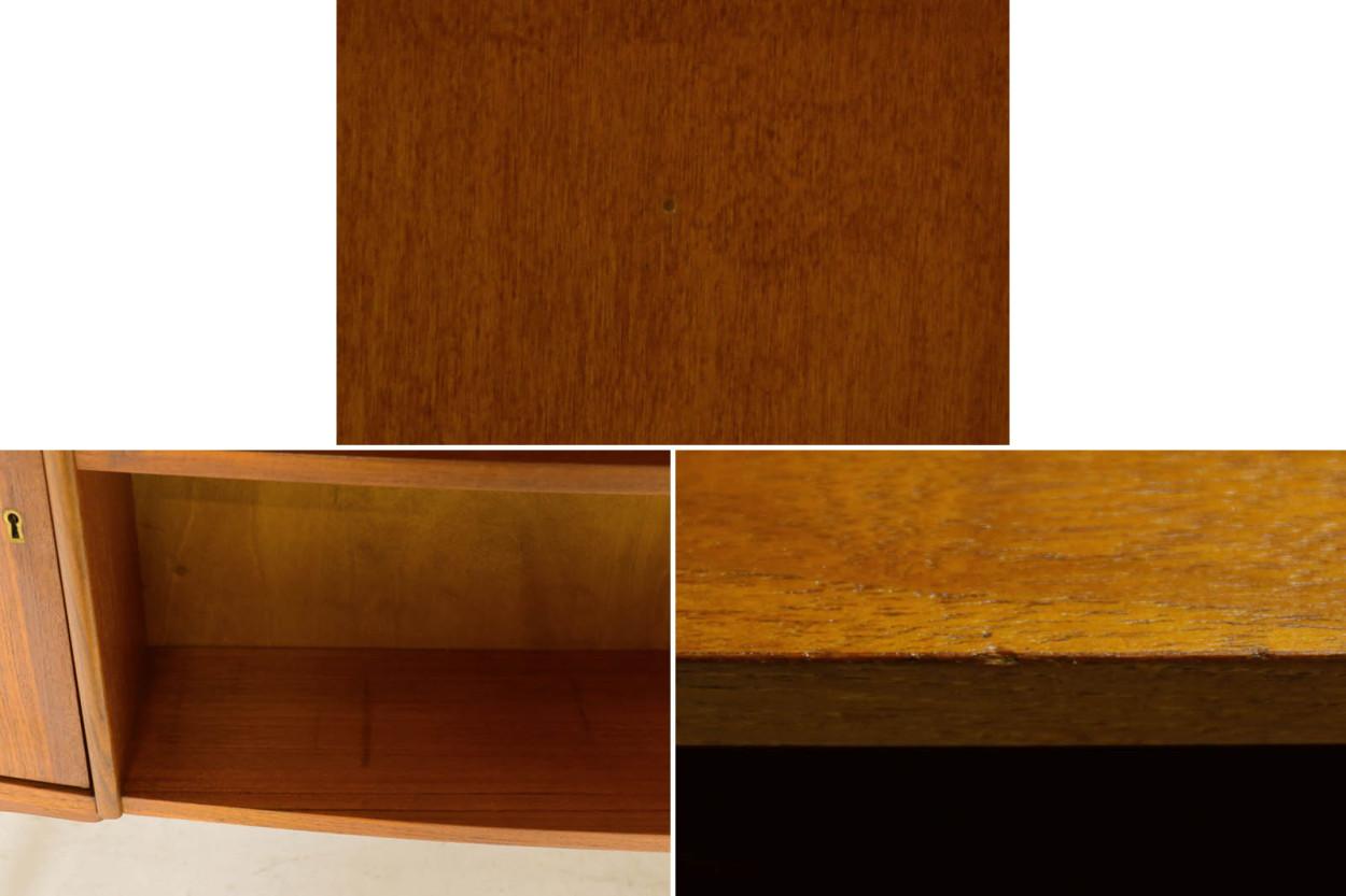 デンマーク製 お洒落な形のキドニーデスク チーク材 北欧家具ビンテージ/DK11447