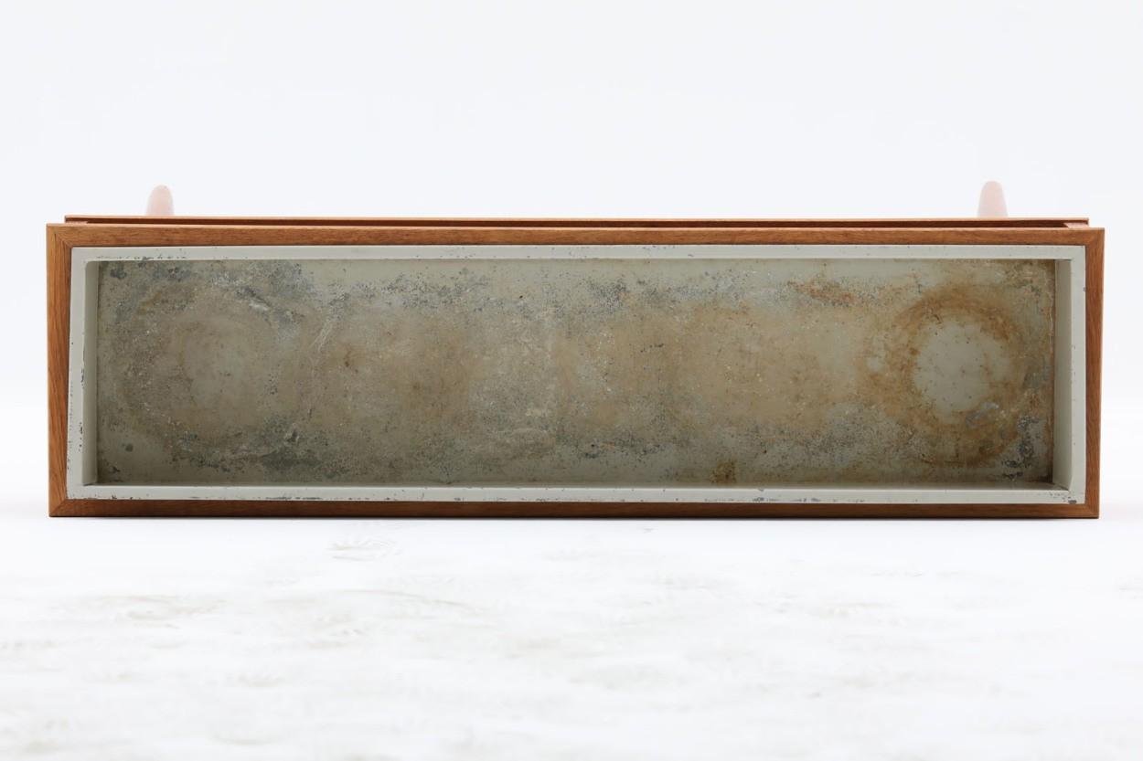 スウェーデン製 プランター チーク×ビーチ材 北欧家具ビンテージ/DK11205