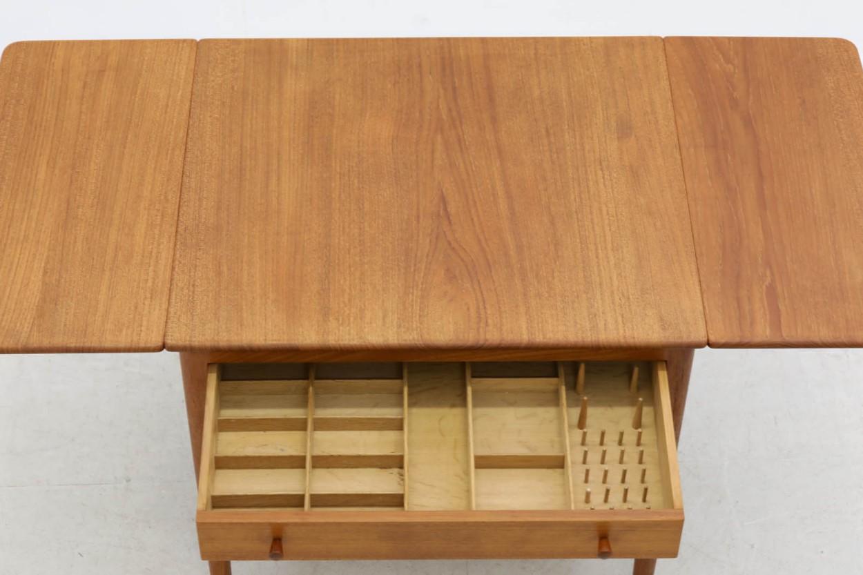 Hans J.Wegner(ハンス・J・ウェグナー) AT33 ソーイングテーブル チーク材 北欧家具ビンテージ/DK10751