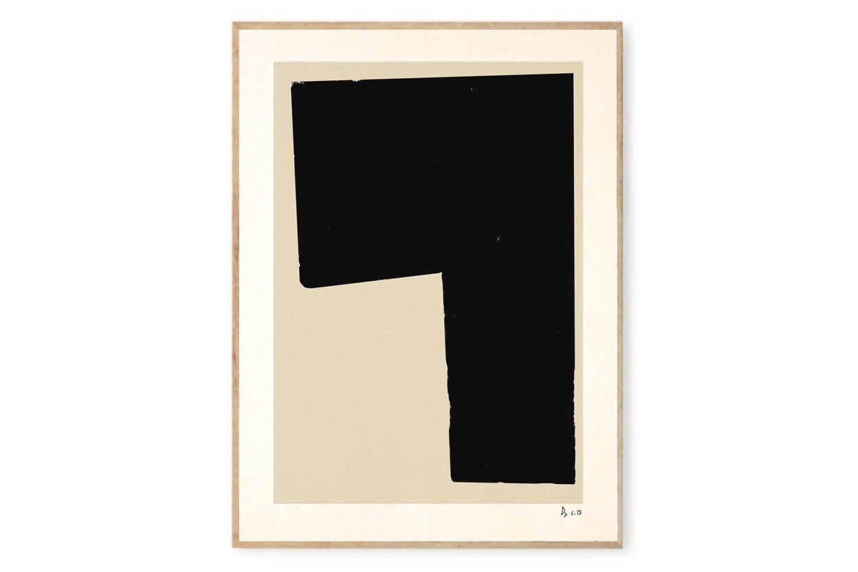 ALIUM × Carsten Beck ポスター/アートプリント 50×70cm Black Object 02