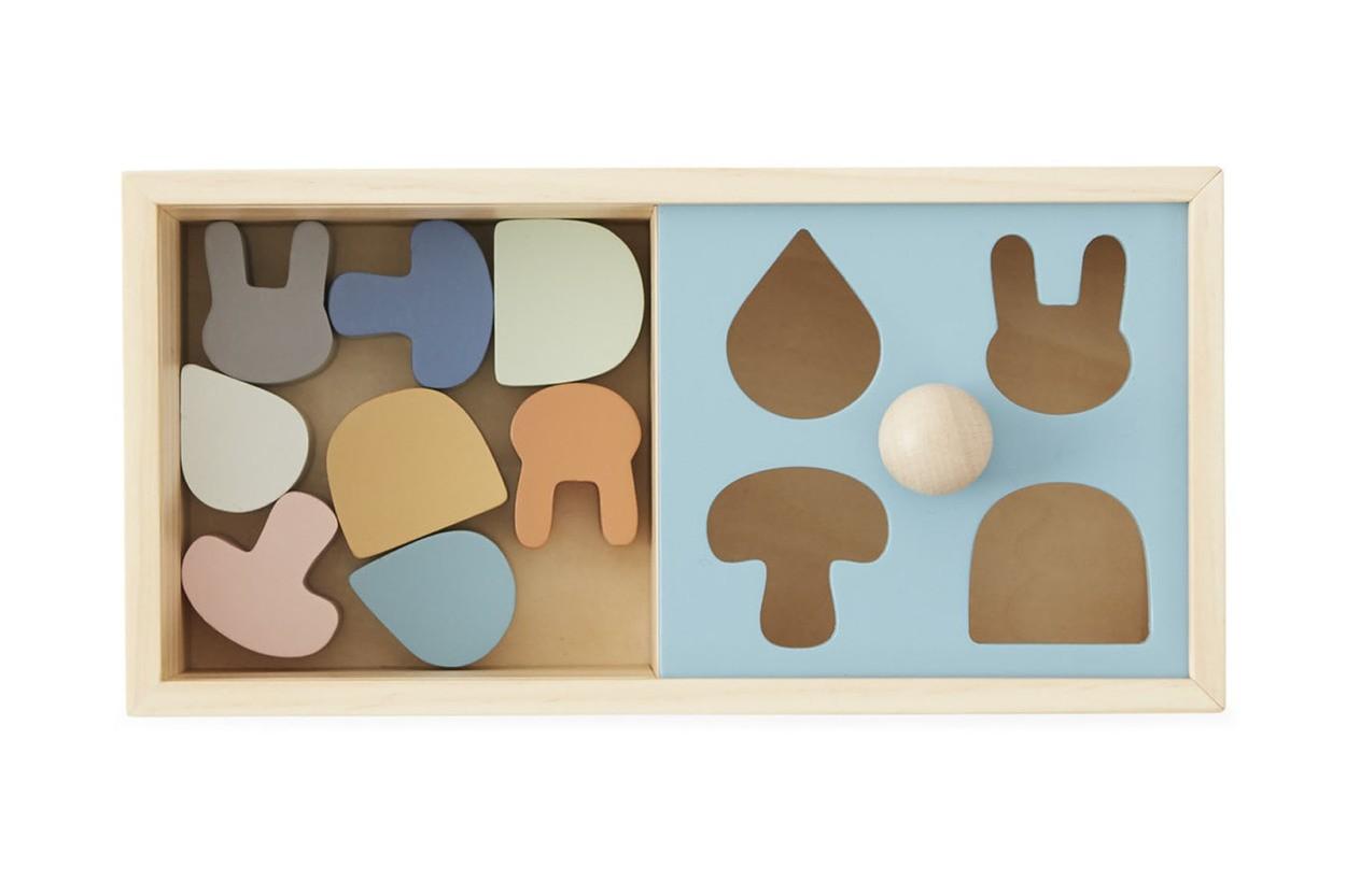 OYOY Living Design キッズ用 ビーチ材天然木のパズルボックス