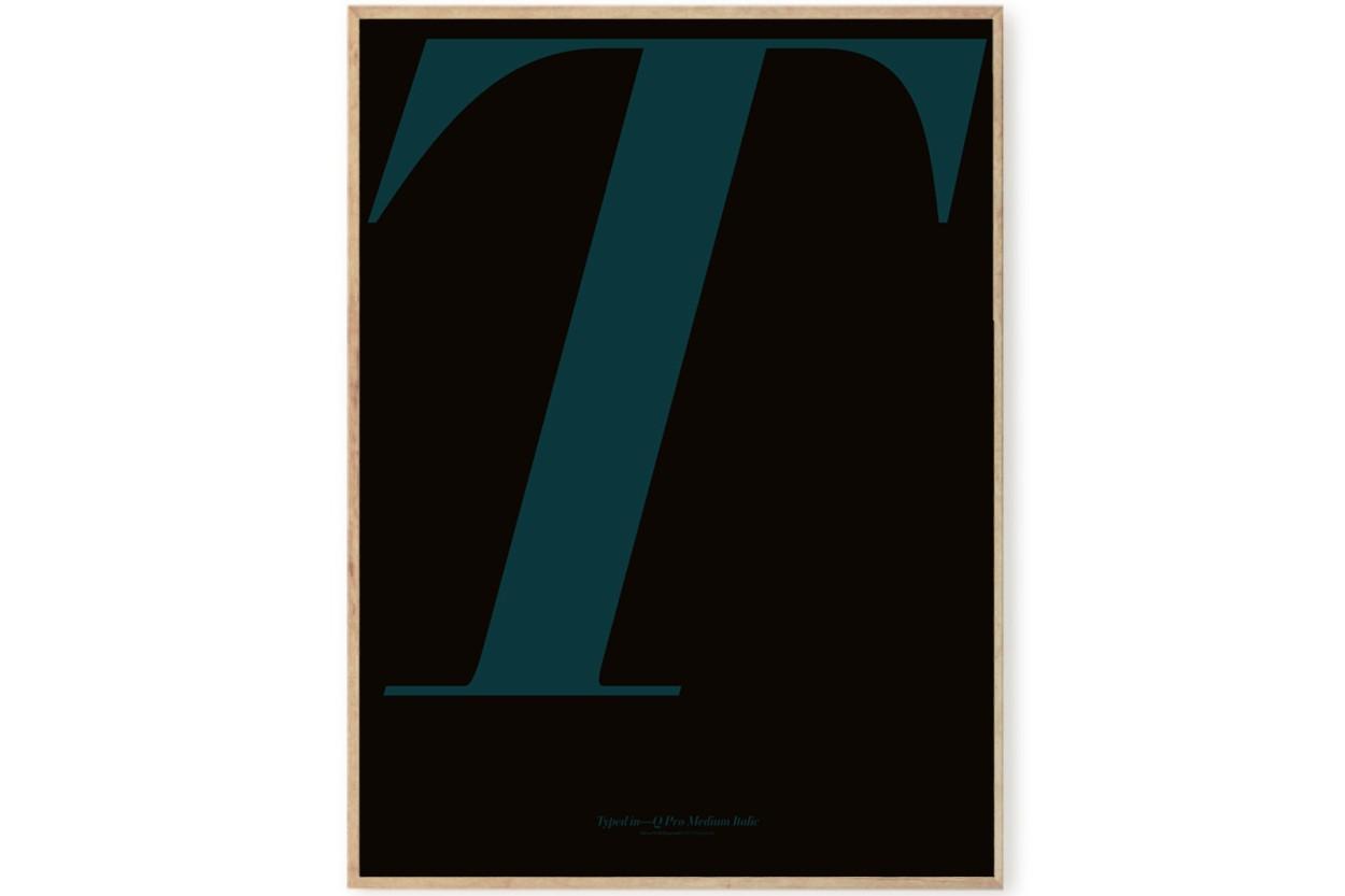 PLAYTYPE アルファベット ポスター/アートプリント 70×100cm ILWT - T