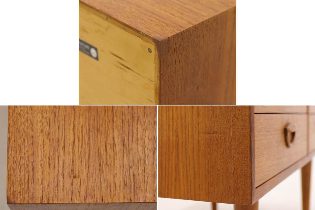 Kai Kristiansen(カイ・クリスチャンセン) 回転板付きのチェスト チーク材 デンマーク製 北欧家具ビンテージ/DK10274