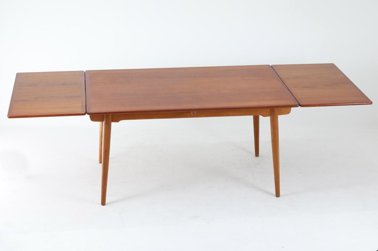 Hans J.Wegner(ハンス・J・ウェグナー) AT312 ダイニングテーブル チーク×オーク材 北欧家具ビンテージ/DK11405