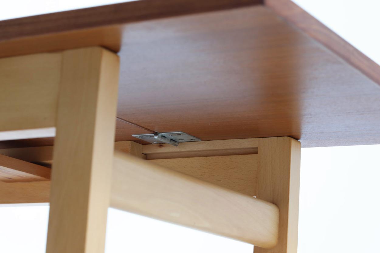 Hans J.Wegner(ハンス・J・ウェグナー) 拡張式センターテーブル マホガニー×ビーチ材 北欧家具ビンテージ デンマーク製/DK11507