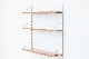 スウェーデン製 壁掛けシェルフ/ウォールシェルフ チーク材 北欧家具ビンテージ/DK11667