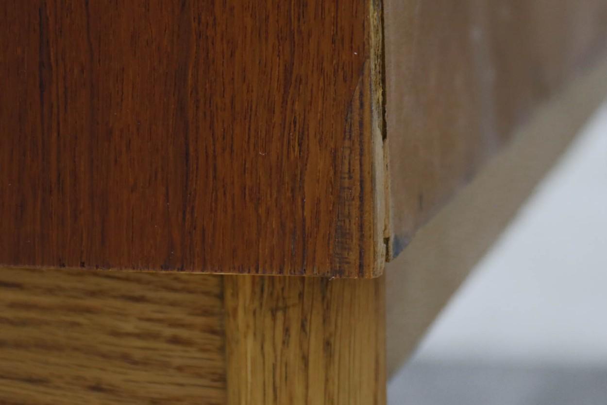 デンマーク製 ライティングビューロ/机 チーク×オーク材 北欧家具ビンテージ/DK10941