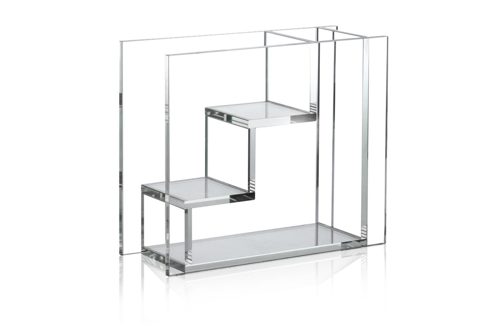 HKliving アーキテクトデザインのガラスベース クリアカラー 高さ21cm