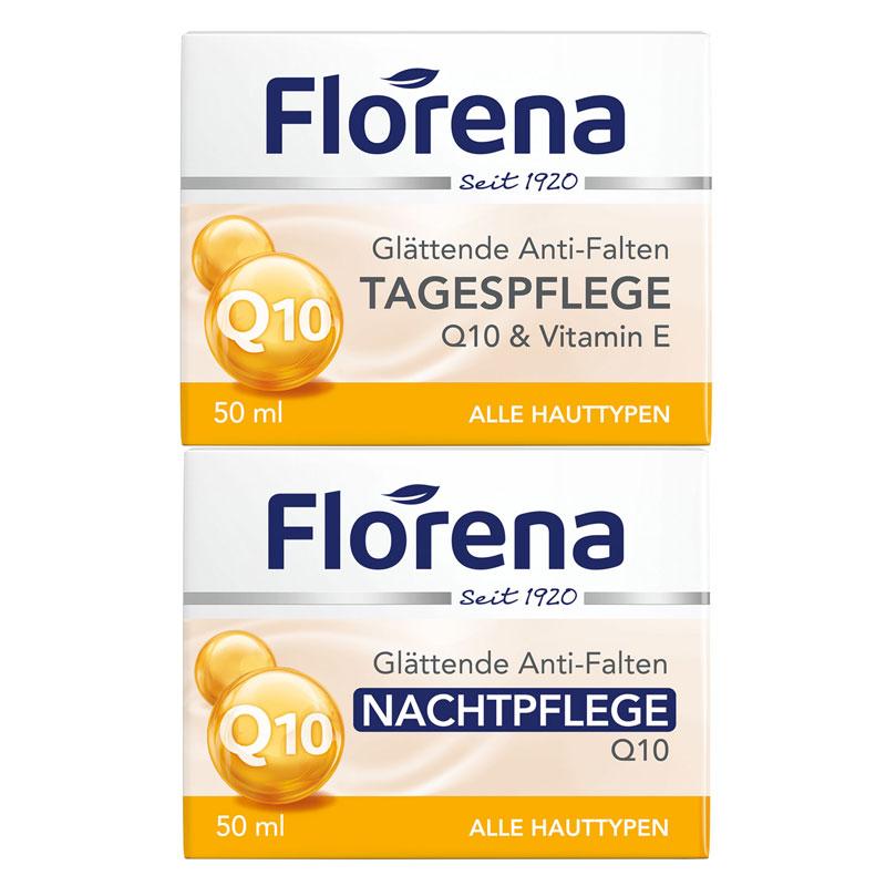 【お得な】Florena(フロレナ) フェイスクリーム デイ&ナイトセット UQ(アプリコットカーネルオイル&Q10)