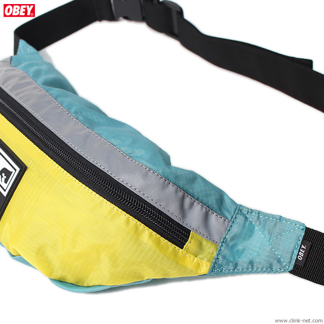 OBEY RIPSTOP DAILY SLING PACK (AQUQ/YELLOW)