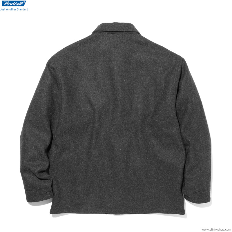 RADIALL FLAGS - REGULAR COLLARED SHIRT L/S (CHARCOAL)