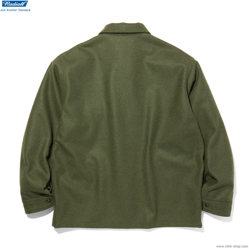 RADIALL FLAGS - REGULAR COLLARED SHIRT L/S (OLIVE)