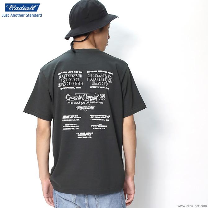 RADIALL SAME MOON - CREW NECK T-SHIRT (BLACK)