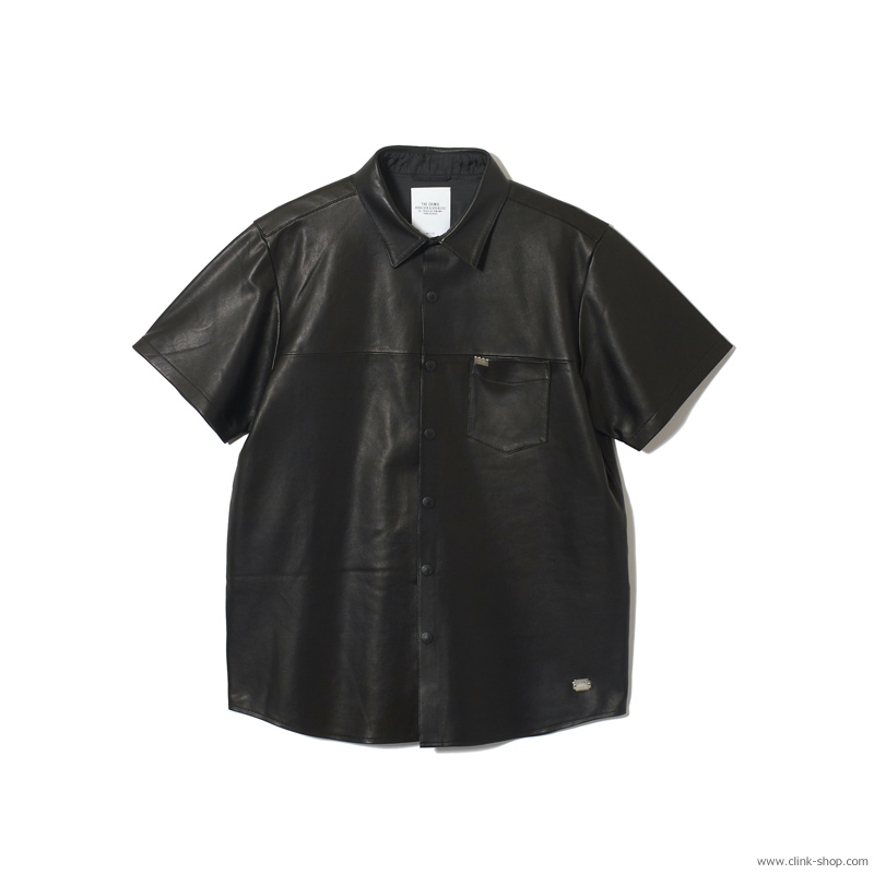 SALE 30%OFF 【メーカー直送】CRIMIE LEATHER SHORT SLEEVE SHIRT [CR1-02A1-SS30]