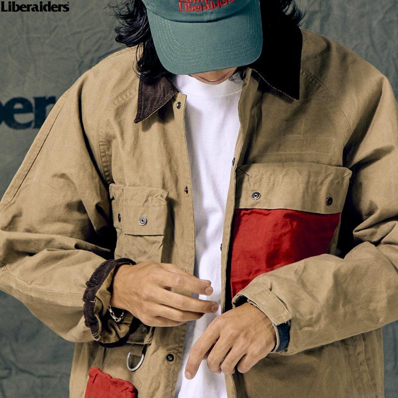 LIBERAIDERS CANVAS HUNTING JACKET (BEIGE) #73001
