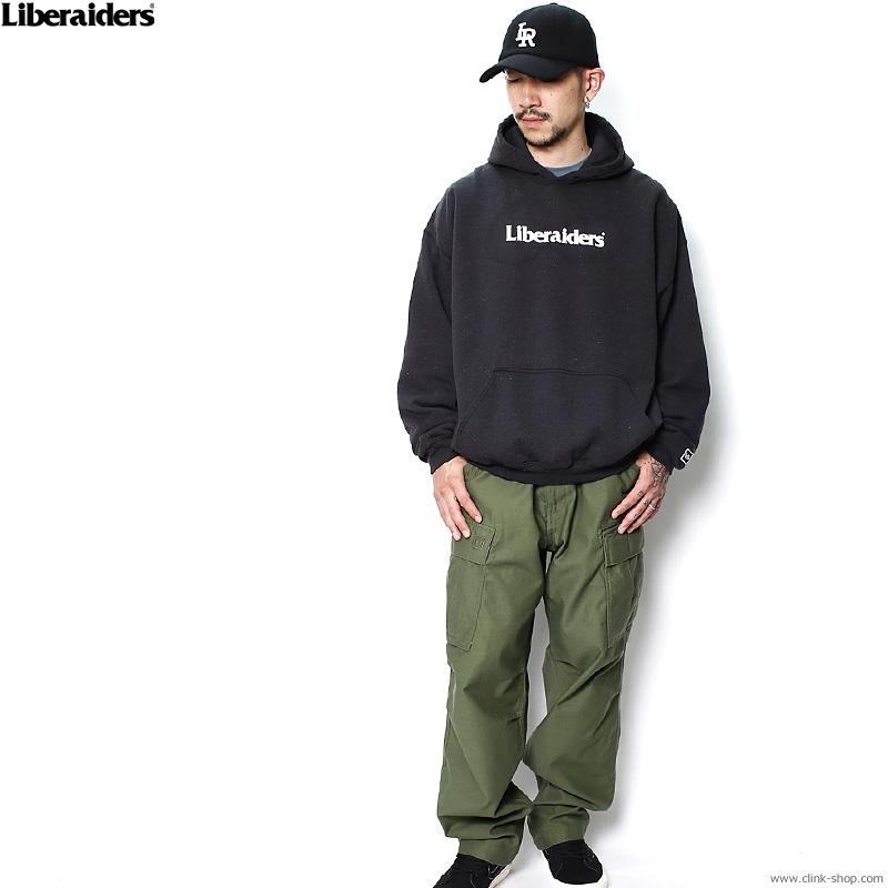 LIBERAIDERS OG LOGO PULLOVER HOODIE (BLACK) #72305