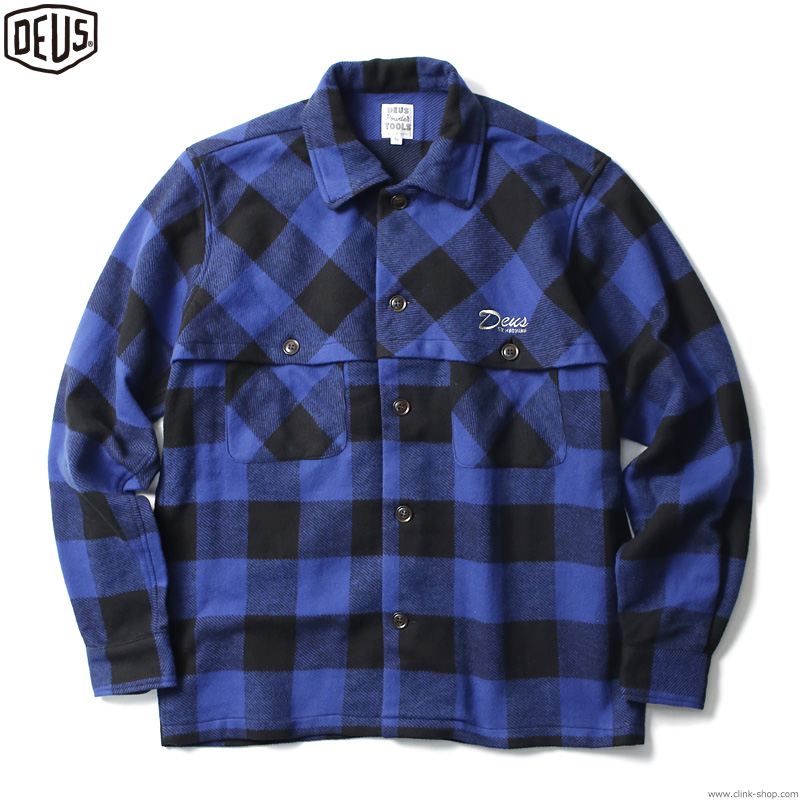 DEUS EX MACHINA OUTSKIRTS FLANNEL SHIRT (BLUE)