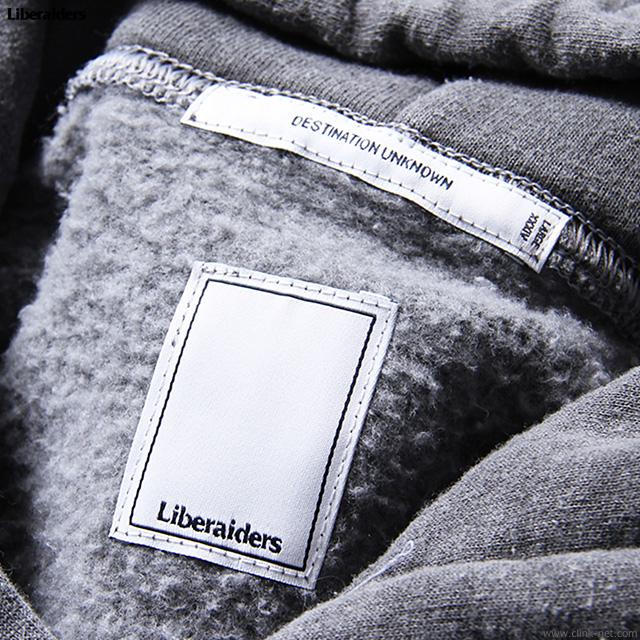 LIBERAIDERS GERMAN LOGO OVERDYED PULLOVER HOODIE (BLACK) #76306