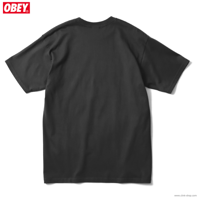 """OBEY BASIC TEE """"OBEY 3 FACES COLLAGE"""" (BLACK)"""
