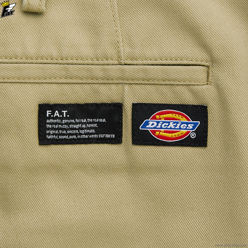 """FAT × Dickies """"TUFFIES"""" (BEIGE) [F32110-PN02]"""