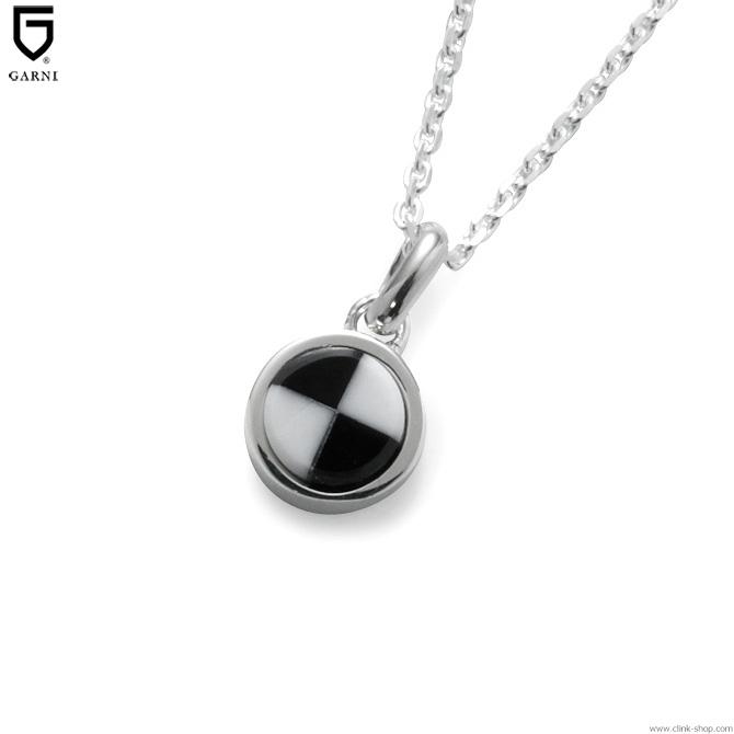 GARNI CHECKER STONE PENDANT - S - (BLACK) [GN18052]