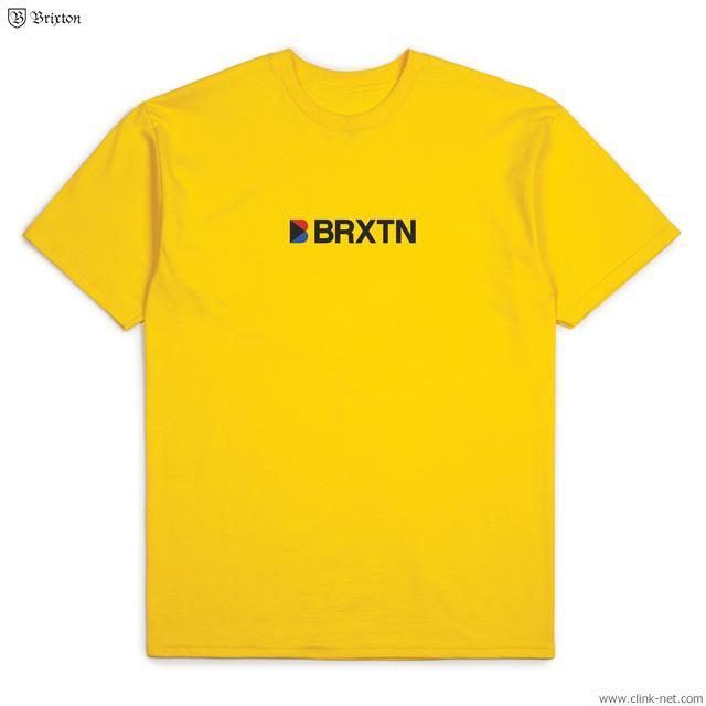 BRIXTON STOWELL IV S/S STANDARD TEE (YELLOW)