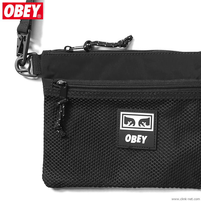 OBEY CONDITIONS SIDE BAG (BLACK)