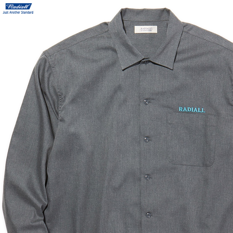 RADIALL LOWELL - REGULAR COLLARED SHIRT L/S (GRAY)