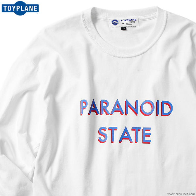 TOYPLANE L/S PARANOID STATE TEE (WHITE) [TP19-FTE03]