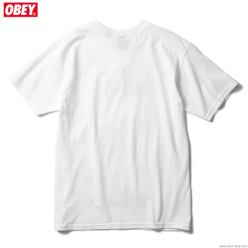 "OBEY BASIC TEE ""NOVEL OBEY"" (WHITE)"