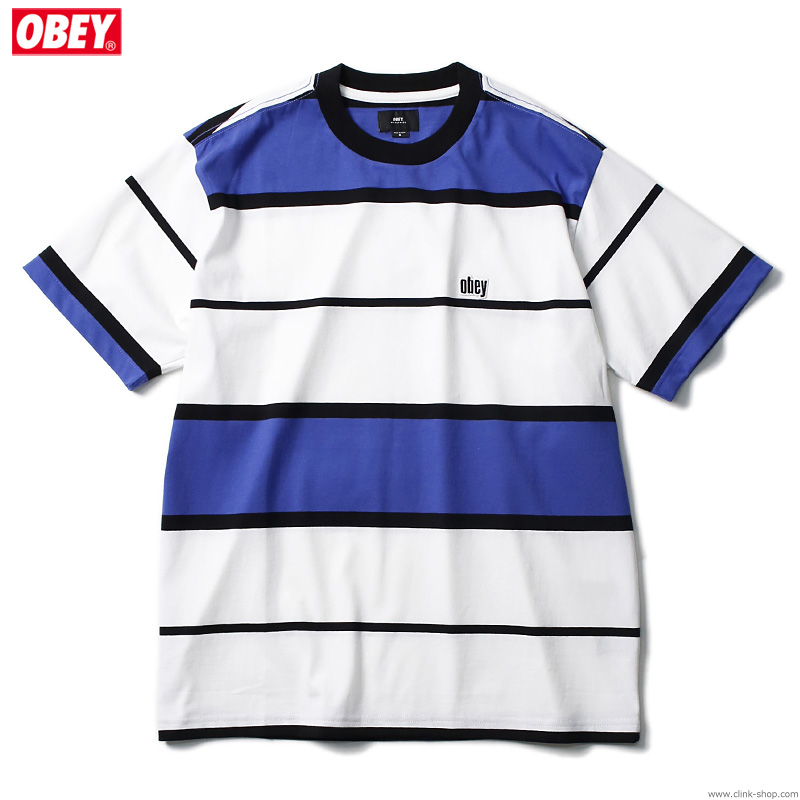 OBEY MERCY TEE SS (BLUE MULTI)