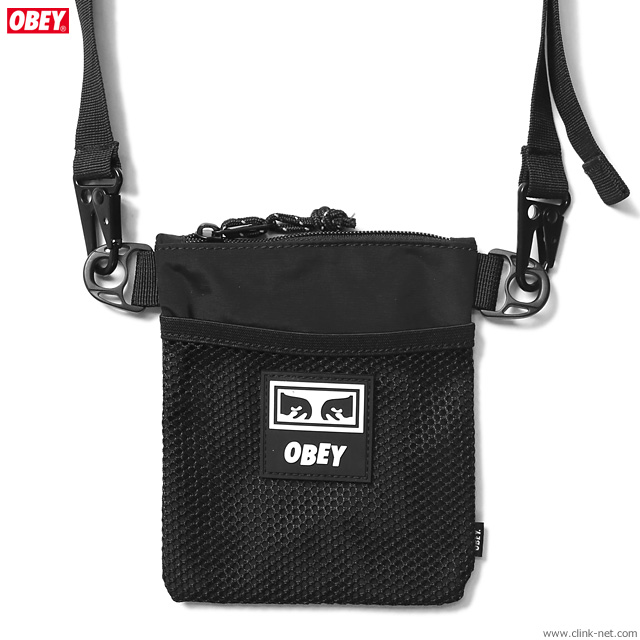 OBEY CONDITIONS SIDE POUCH (BLACK)
