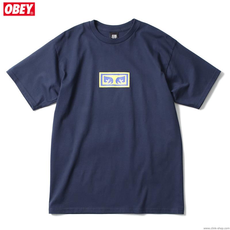 """OBEY BASIC TEE """"EYES"""" (NAVY)"""