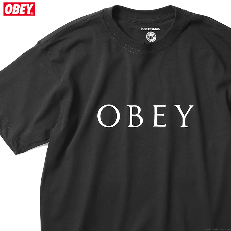 """OBEY SUSTAINABLE TEE """"OBEY NOVEL 2"""" (BLACK)"""