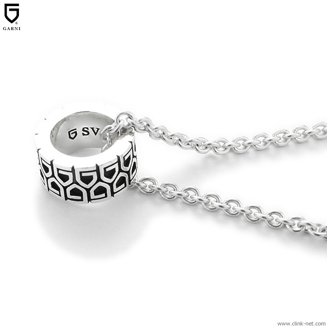 GARNI G LINE UP RING PENDANT (BLACK) [GN19033]