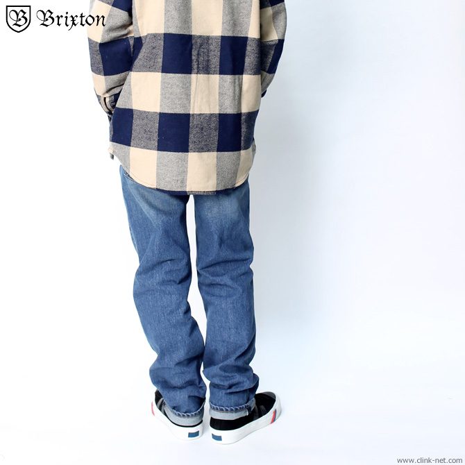 BRIXTON LABOR 5-POCKET DENIM PANT - RELAXED FIT - (WORN INDIGO)