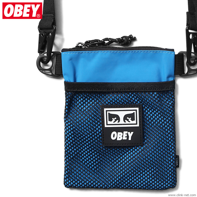OBEY CONDITIONS SIDE POUCH (PURE TEAL)