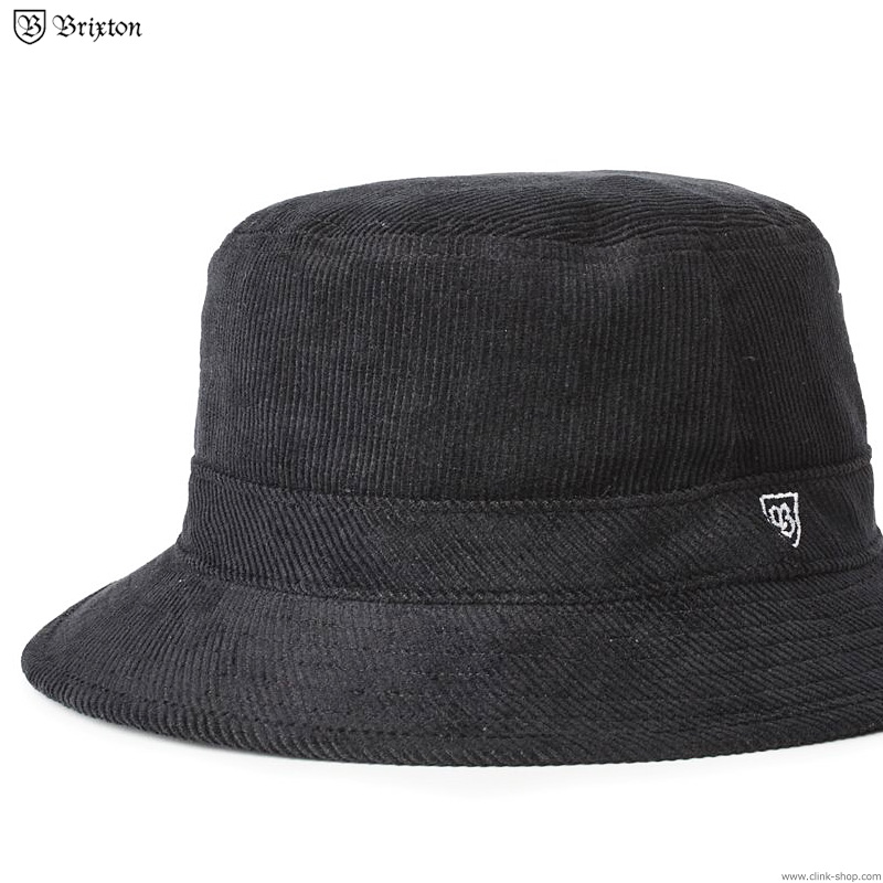 BRIXTON B-SHIELD BUCKET HAT  (BLACK)