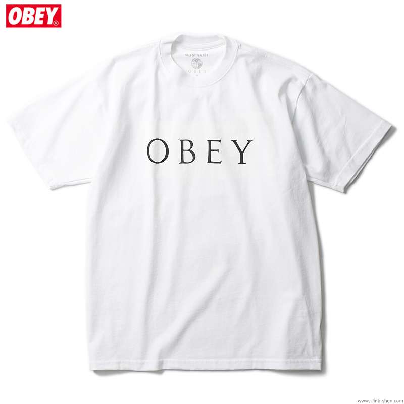 "OBEY SUSTAINABLE TEE ""OBEY NOVEL 2"" (WHITE)"
