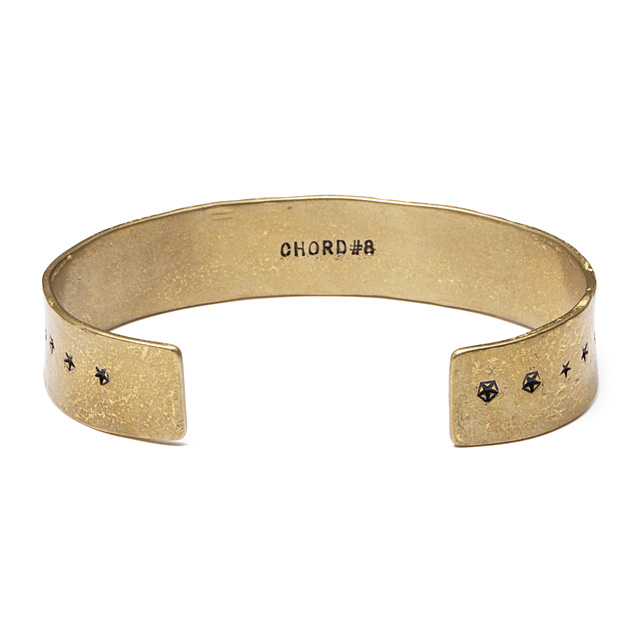 CHORD NUMBER EIGHT STAR BANGLE (BRASS) [N8M1F1-AC02]