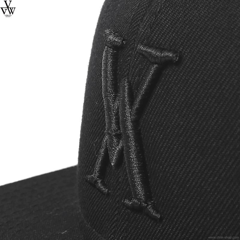 VIRGO VG LOGO CAP (BLACK×BLACK) [VG-GD-371]
